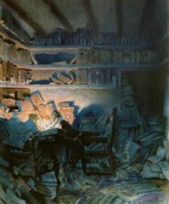 Don Quijote en su Biblioteca.