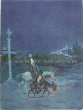 Don Quijote,, y una noche se salieron